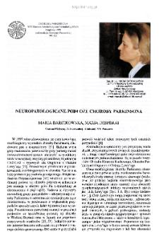 Neuropatologiczne podłoże choroby Parkinsona