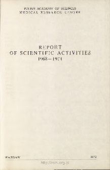 Report of Scientific Activities 1968-1971