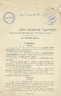 Spis owadów znalezionych pod Warszawą oraz w okolicach w promieniu 40 kilometrów odległych