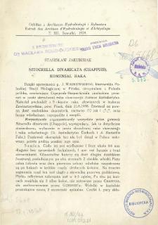 Nitocrella divaricata (Chappuis): komensal raka