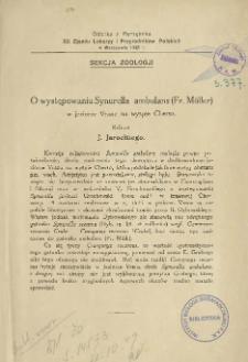O występowaniu Synurella ambulans (Fr. Müller) w jeziorze Vrana na wyspie Cherso: referat
