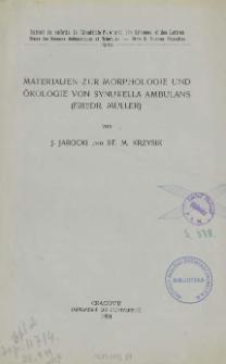 Materialien zur morphologie und ökologie von Synurella ambulans (Friedr. Müller) = Materjały do morfologji i ekologji Synurella ambulans (Friedr. Müller)