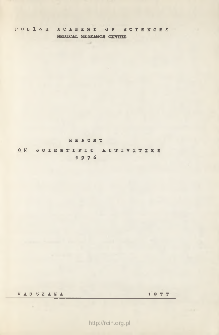 Report on Scientifc Activities 1976
