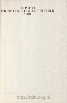 Report on Scientific Activities 1983