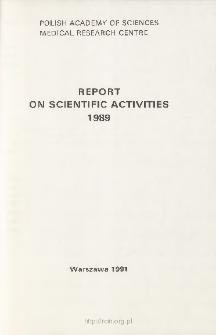 Report of Scientific Activities 1989