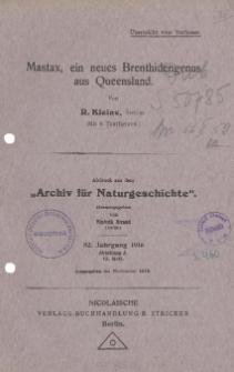 Mastax, ein neues Brenthidengenus aus Queensland