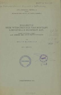 Digametie beim Weibchen der Trichoptere Limnophilus decipiens Kol. : Nebst Erörterungen zur Theorie der Geschlechtsvererbung