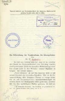 Zur Erforschung der Najadeenfauna des Rheingebietes
