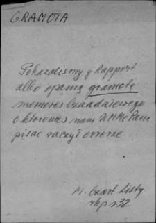 Kartoteka Słownika języka polskiego XVII i 1. połowy XVIII wieku; Gramota - Grodzić się
