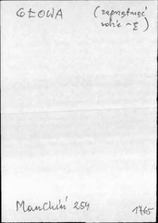 Kartoteka Słownika języka polskiego XVII i 1. połowy XVIII wieku; Głowa - Głoźny