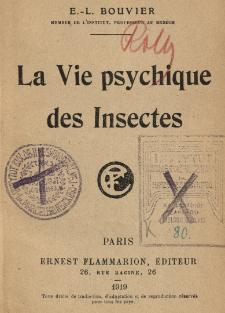 La Vie psychique des Insectes