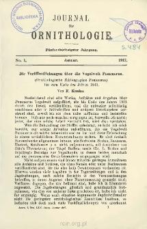 Die Veröffentlichungen über die Vogelwelt Pommerns: Ornithologische Bibliographie Pommerns bis zum Ende des Jahres 1915