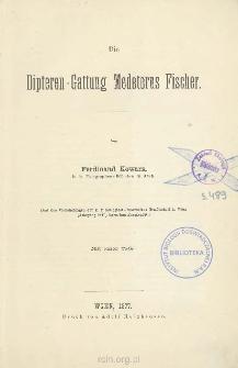 Die Dipteren-Gattung Medeterus Fischer