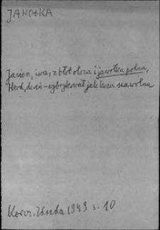 Kartoteka Słownika języka polskiego XVII i 1. połowy XVIII wieku; Jawołka - Jechowa