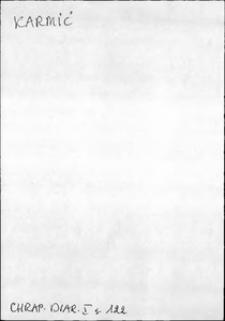 Kartoteka Słownika języka polskiego XVII i 1. połowy XVIII wieku; Karmić - Kasztelanka