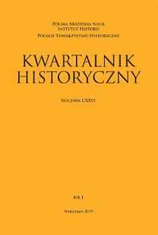 Kwartalnik Historyczny R. 126 nr 1 (2019), Recenzje