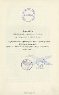 Neuroptera: Eine historisch - systematische Übersicht. II. Phylogenetische Umgrenzung der Echten Neuropteren: Neuropteroidea Hdl.