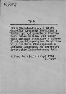 Kartoteka Słownika języka polskiego XVII i 1. połowy XVIII wieku; Który5