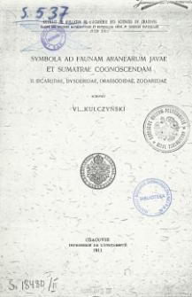 Symbola ad faunam Aranearum Javae et Sumatrae cognoscendam. II. Sicariidae, Dysderidae, Drassodidae, Zodariidae