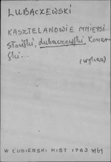 Kartoteka Słownika języka polskiego XVII i 1. połowy XVIII wieku; Lubaczewski - Ludzie