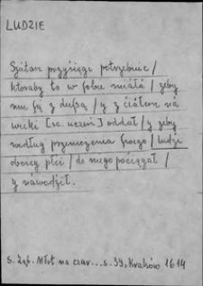 Kartoteka Słownika języka polskiego XVII i 1. połowy XVIII wieku; Ludzie2