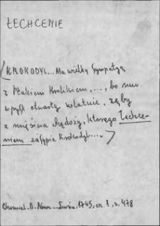 Kartoteka Słownika języka polskiego XVII i 1. połowy XVIII wieku; Łechcenie - Łódnik