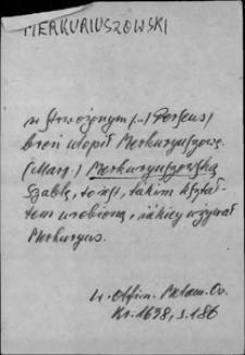 Kartoteka Słownika języka polskiego XVII i 1. połowy XVIII wieku; Merkuriuszowski - Miałki
