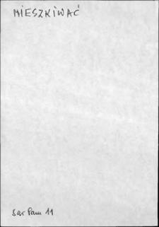 Kartoteka Słownika języka polskiego XVII i 1. połowy XVIII wieku; Mieszkiwać - Miękki