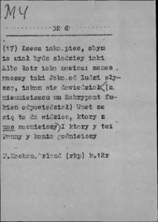 Kartoteka Słownika języka polskiego XVII i 1. połowy XVIII wieku; My3 - Mżytek