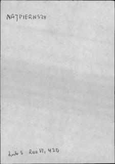 Kartoteka Słownika języka polskiego XVII i 1. połowy XVIII wieku; Najpierwszy - Należeć1