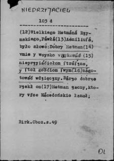 Kartoteka Słownika języka polskiego XVII i 1. połowy XVIII wieku; Nieprzyjaciel2 - Nieskończony