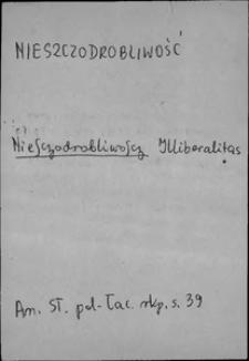 Kartoteka Słownika języka polskiego XVII i 1. połowy XVIII wieku; Nieszdoronliwość - Niewiadomość