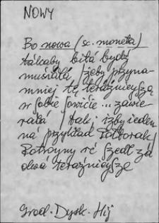 Kartoteka Słownika języka polskiego XVII i 1. połowy XVIII wieku; Nowy2 - Nyski