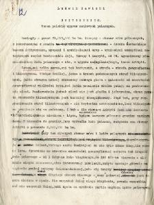 Maszynopisy artykułów L. Sawickiego dotyczące wyprawy