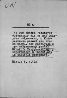 Kartoteka Słownika języka polskiego XVII i 1. połowy XVIII wieku; On3