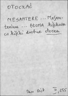 Kartoteka Słownika języka polskiego XVII i 1. połowy XVIII wieku; Otoczyć - Owdowiony