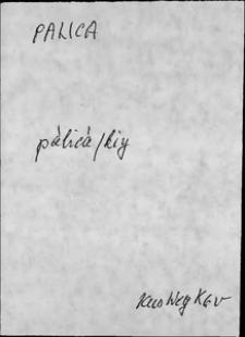 Kartoteka Słownika języka polskiego XVII i 1. połowy XVIII wieku; Palica - Pan1