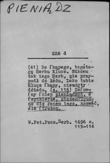 Kartoteka Słownika języka polskiego XVII i 1. połowy XVIII wieku; Pieniądz2 - Pierwotny