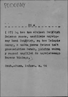 Kartoteka Słownika języka polskiego XVII i 1. połowy XVIII wieku; Podobny2 - Podstawować