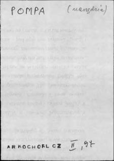 Kartoteka Słownika języka polskiego XVII i 1. połowy XVIII wieku; Pompa - Ponosić