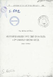 Aranearum species novae tres in Dalmatia a Dre Cornelio Chyzer Lectae
