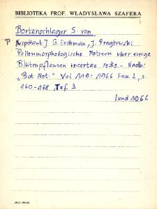 """Kartoteka """"Biblioteka Prof. Władysława Szafera"""" : Bort-Bub"""
