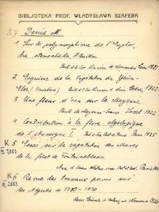 "Kartoteka ""Biblioteka Prof. Władysława Szafera"" : Deni-Dui"