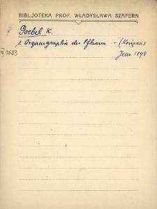 """Kartoteka """"Biblioteka Prof. Władysława Szafera"""" : Goe-Gri"""