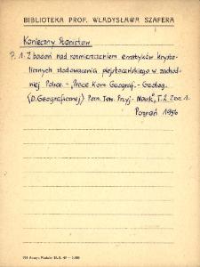 "Kartoteka ""Biblioteka Prof. Władysława Szafera"" : Koni-Kozi"