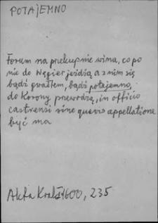 Kartoteka Słownika języka polskiego XVII i 1. połowy XVIII wieku; Potajemno - Potęga