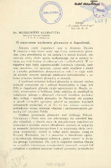 O stawowym wychowie głowacicy w Jugoslawji