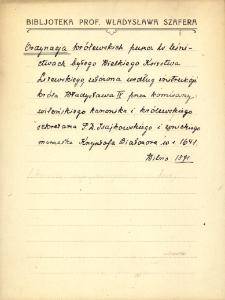 """Kartoteka """"Biblioteka Prof. Władysława Szafera"""" : Or-Pau"""