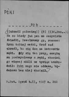 Kartoteka Słownika języka polskiego XVII i 1. połowy XVIII wieku; Póki2 - Późny