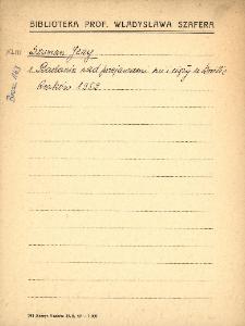 """Kartoteka """"Biblioteka Prof. Władysława Szafera"""" : Szum-Tch"""